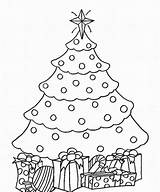 Coloring Tree Christmas Pages Printable Drawing Fir Colorin Getcolorings sketch template