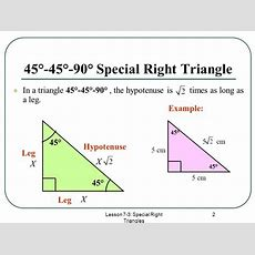 Special Right Triangles  Ppt Video Online Download