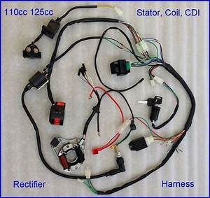 50 70 90 110cc Full Wire Harness Wiring Cdi Assembly Atv Quad Coolster