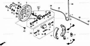 Honda Atv 1988 Oem Parts Diagram For Front Brake    Panel