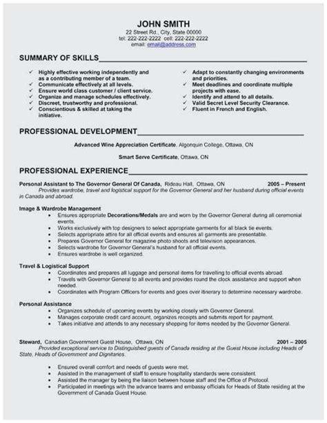 74 elegant collection of resume professional summary