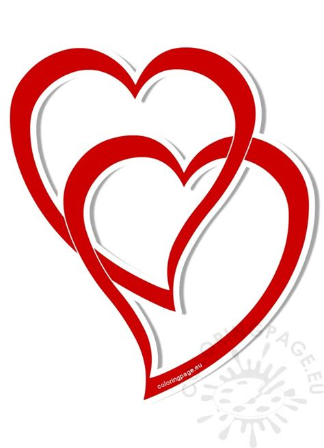 united hearts vector illustration coloring page
