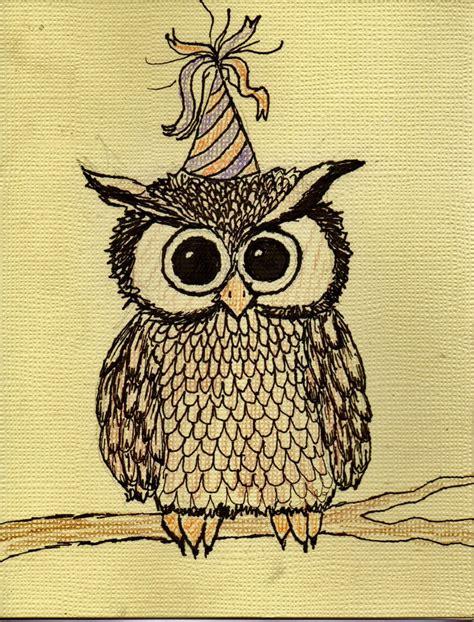 Happy Birthday Owl Images Happy Birthday Owl By Robinisanartist On Deviantart