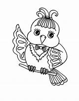 Bird Coloring Pages Canary Drawing Place Getdrawings sketch template