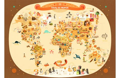 Five Beautiful World Maps For Kids' Rooms