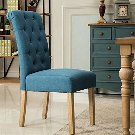 roundhill furniture habit solid wood tufted parsons dining