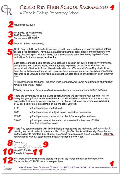 Donation Letter Template For Schools by Fundraising Donation Letter Template 12 Items To Include