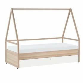 Lit Tipi Enfant : lit cabane enfant spot de la marque vox en bois clair avec lit gigogne ~ Teatrodelosmanantiales.com Idées de Décoration