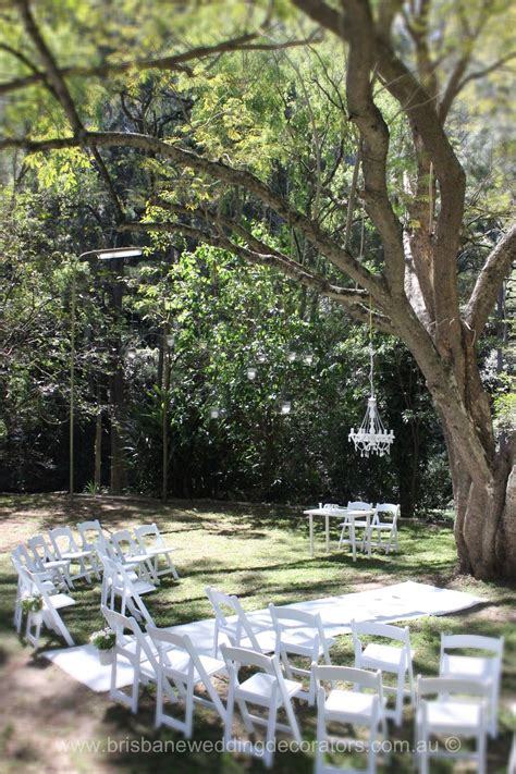 Garden Decoration Brisbane by A Brisbane Wedding Decorators Styled White Wedding