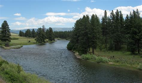 The Blackfoot River In Montana
