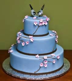 blue wedding cakes gallery