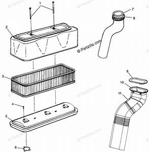 Polaris Watercraft 1996 Oem Parts Diagram For Air Vent Slt