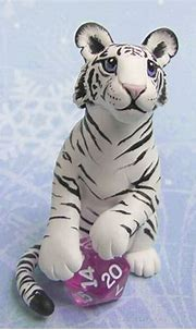 White Tiger with Dice by DragonsAndBeasties on deviantART ...