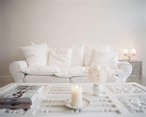 white shabby chic sofa shabby chic living room photos 10 of 12 lonny