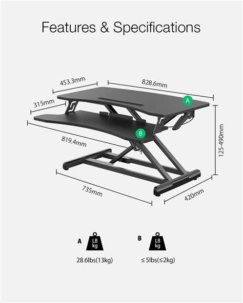 BlitzWolf® Pneumatic Lifting Table Standing Desk | eBay