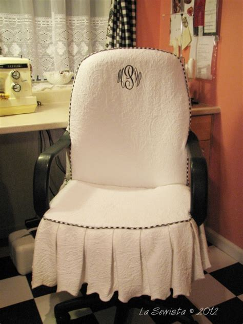 office chair slipcover la sewista office chair slipcover completed