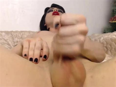 Very Hot Masturbation Session By A Brunette Shemale Huge