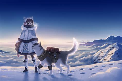 Snow Anime Wallpaper - anime snow landscape www pixshark images galleries