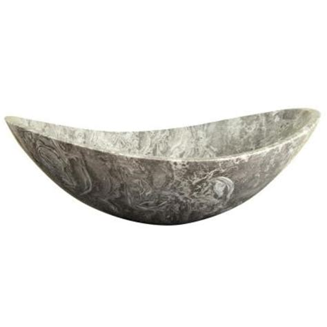 ryvyr stone 20 in oval vessel sink in overlord gray