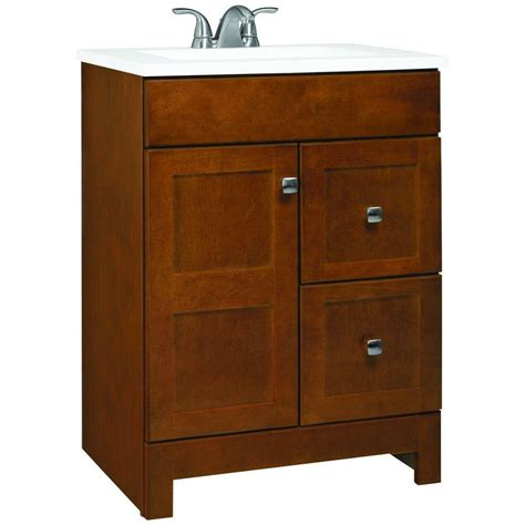 Vanity 24 Inch by Glacier Bay Artisan 24 In W Vanity In Chestnut With