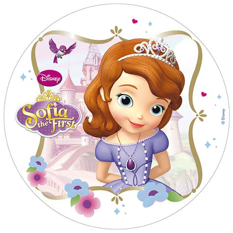 disque azyme 20 cm princesse sofia d 233 coration