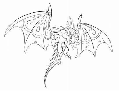Dragon Coloring Train Pages Skrill Dragons Sketch