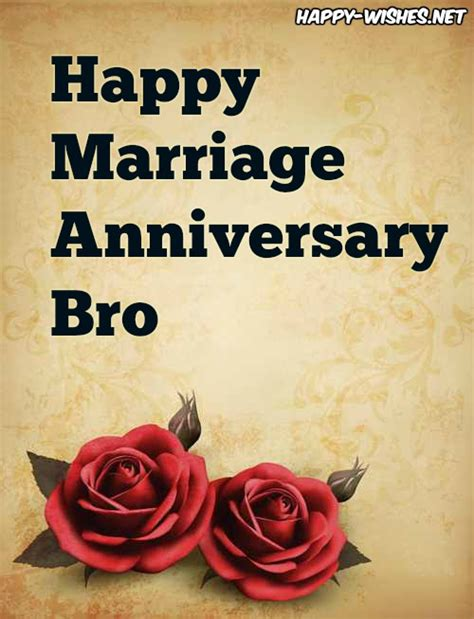 happy marriage anniversary wishes  brother
