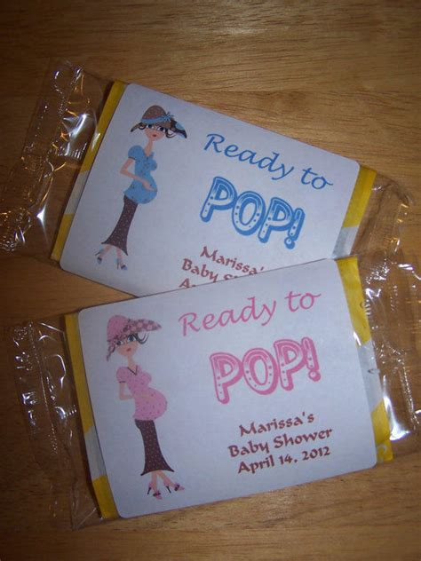 personalized popcorn baby shower favor  printu  etsy
