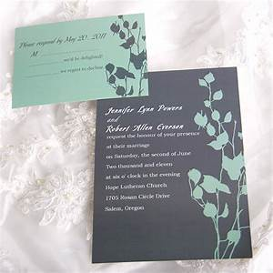personalized rustic vintage lovely leaves wedding card With personalized e wedding invitation cards