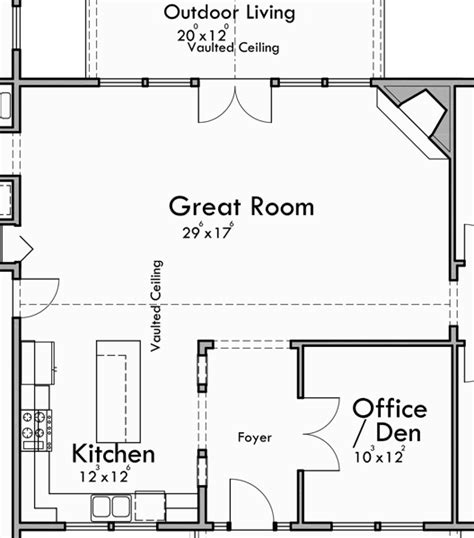 great room kitchen floor plans portland oregon house plans one story house plans great room 6919