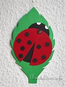 Basteln Für Den Sommer : basteln mit kindern marienk fer fensterbild zuk nftige projekte pinterest marienk fer ~ Buech-reservation.com Haus und Dekorationen
