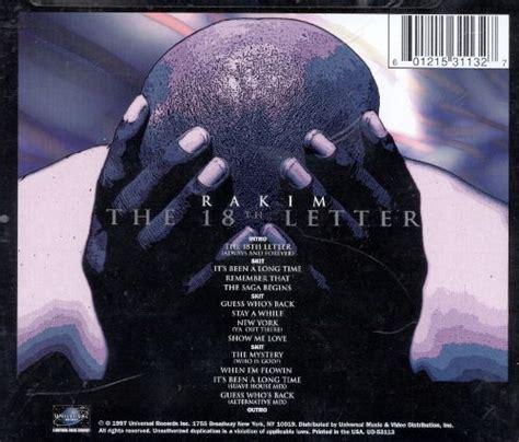 rakim the 18th letter the 18th letter rakim songs reviews credits allmusic 24189