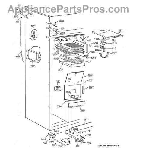 parts  ge ziswdyb freezer section parts appliancepartsproscom