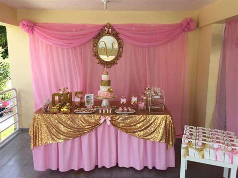 Princess Pink & Gold Birthday Party Ideas  Pink Gold