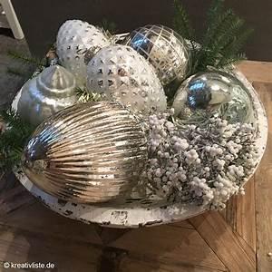 Tischdeko Zu Weihnachten Ideen : schale dekorieren zu weihnachten kreativliste ~ Markanthonyermac.com Haus und Dekorationen