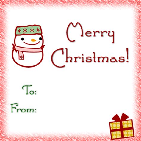 wallpapers picture christmas gift tag template kids