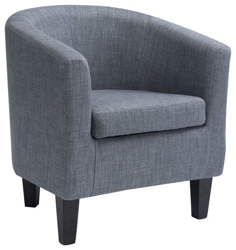 corliving antonio tub chair grey fabric