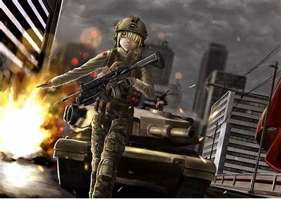 Anime Army Desktop Backgrounds Military Wallpapers Gun