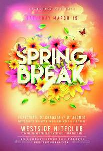 Colorful Spring Break Flyer Template