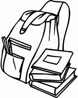 Backpack Coloring Template Student Sketch Backpacks Drawing sketch template