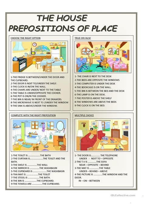 The House  Prepositions Of Place Worksheet  Free Esl Printable Worksheets Made By Teachers