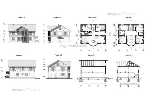 house plan drawings house plan autocad dwg drawing free plans