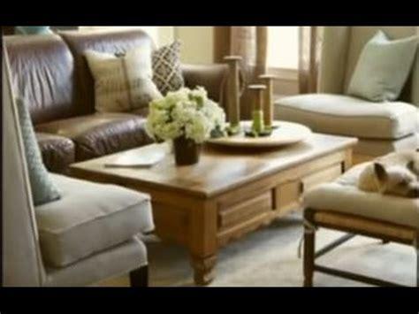 bhg    lighten   brown leather sofa