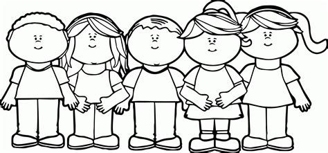 coloring pages childrens rights  svg file  silhouette