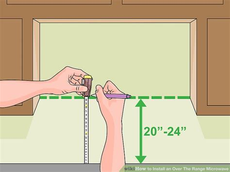 20 inch stove how to install an the range microwave 15 steps