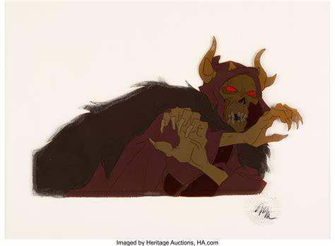 The Black Cauldron Horned King Production Cel (Walt Disney ...