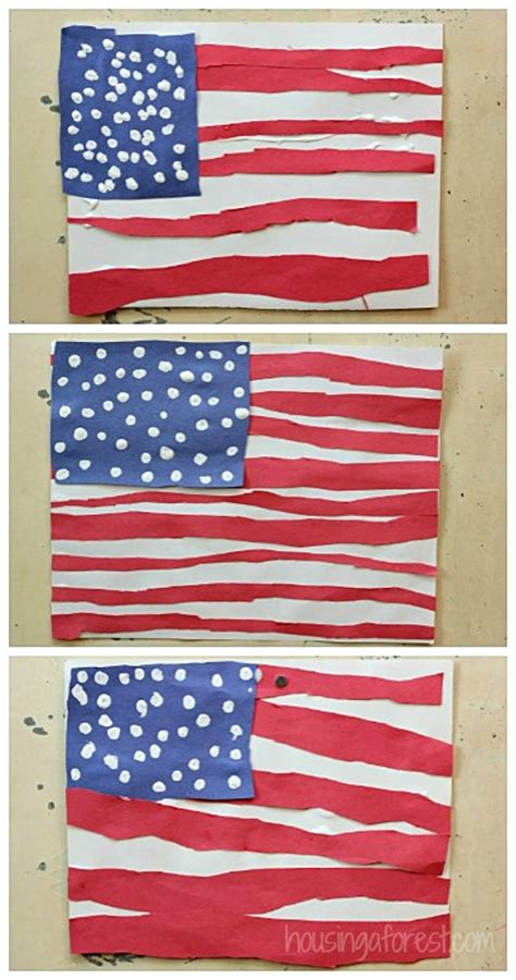 simple american flag craft for housing a forest 681 | American Flag Craft