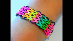 Bracelet Avec Elastique : tutoriel r aliser un bracelet lastique manchette avec une seule machine rainbow loom ~ Melissatoandfro.com Idées de Décoration