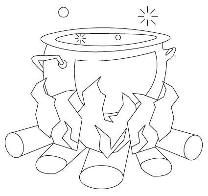 cooking jeux de cuisine coloriage d 39 un chaudron de sorcière sur jeudefille com