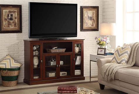 credenza entertainment center highboy tv stand enclosed media storage entertainment